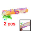 Multicolor Zipper Closure Pen Pencil Stationery Bag 2pcs
