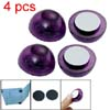 Laptop Notebook Purple Half Ball Seat Stand Cooler Pad 4pcs