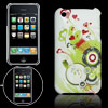 Heart Printed Colorful Back Guard Cover for iPhone 3G