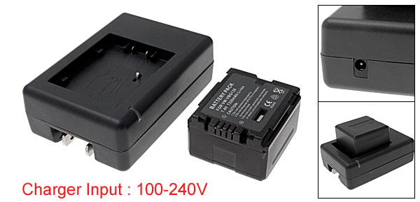US Plug AC100-240V VW-VBG130 Battery Charger for Panasonic SDR-H80 SDR-H90