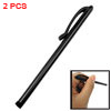 2pcs Black Alloy Body Clip Stylus Pen for Apple iPad iPod