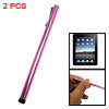 Alloy Body Touch Screen Stylus Pen for Apple iPad Ultra Pink 2pcs