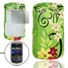 For BB Bold 9700 Screen Guard Floral Plastic Cover