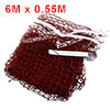 Dark Red 6 x 0.55 Meter Size Nylon Badminton Net