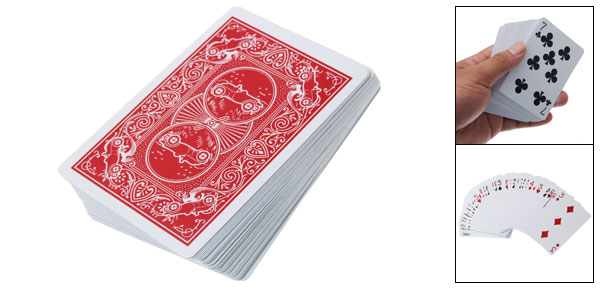 Casino Pack Carmine White Paper Magic Playing Cards