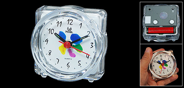 Clear White Plastic Casing House Light Alarm Clock