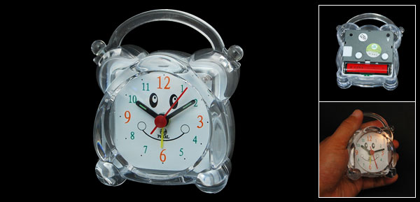 Crystal Plastic Night Light Handy Hour Alarm Clock