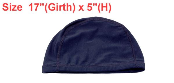 Midnight Blue Spandex Fibre Polyester Cap Swim Hat New