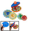 Super Long Lasting Spin Action Colorful Plastic Peg Top Toy