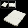 Notbook Faux Leather Off White Case w Stand Leg for iPad