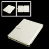 Side Flip Flap Faux Leather Off White PC Case for iPad