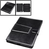 Notbook Faux Leather Black Smooth Case w Stand Leg for iPad