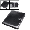 Notebook Faux Leather Black Smooth Case for Apple iPad