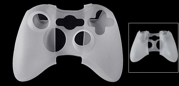White Silicone Skin Case Cover Guard for Xbox 360 Controller