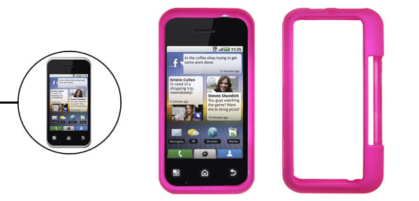 Rubberized Amaranth Pink Hard Cover for Motorola MB300