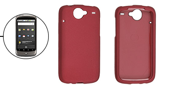 Heart Dark Red Rubberized Hard Plastic Case Cover for Google Nexus One
