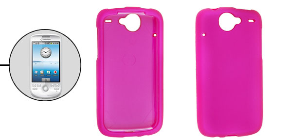 Heart Rubberized Hard Plastic Amaranth Pink Case Cover for Google Nexus One