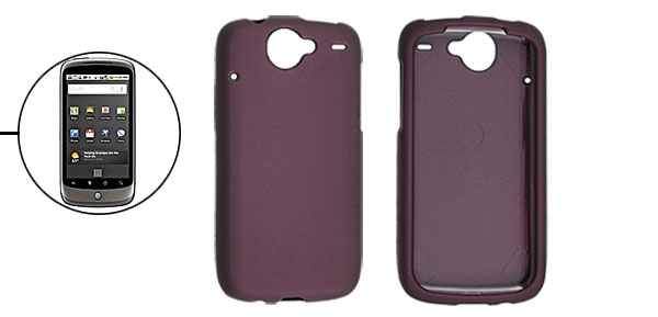 Heart Rubberized Hard Plastic Case Cover for Google Nexus One