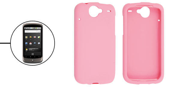 Hard Plastic Heart Rubberized Case Cover for Google Nexus One Ultra Pink