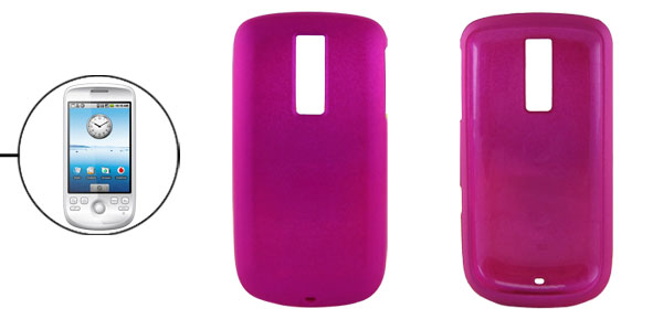 Rubberized Fuchsia Hard Plastic Guard Case for Google G2
