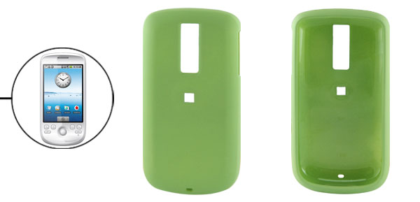Rubberized Hard Plastic Case Protector for Google G2 Green