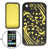 Black Sea Wave Silicone Skin Cover Case for Apple iPhone 3G
