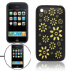 Laser Carve Flower Silicone Soft Protector Case for iPhone 3G