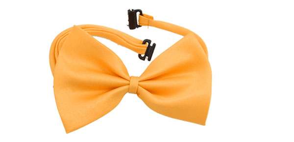 Dog Yellow Bow Tie Pet Cat Adjustable Bowtie Collar
