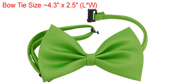 Dog Cat Bow Tie Bowtie Pet Adjustable Collar Green