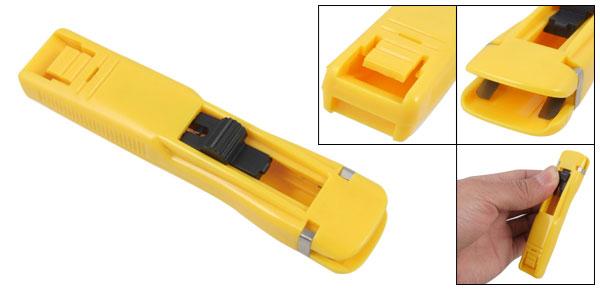 Yellow Plastic Handheld Small Fast Clam Clip Dispenser