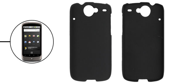 Black Rubberized Plastic Case for Google Nexus One