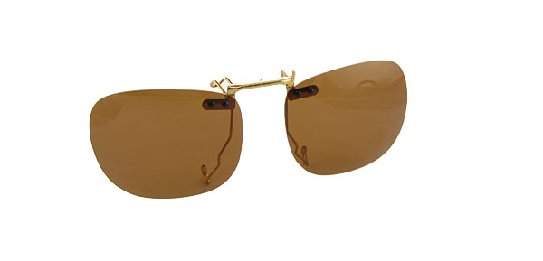 Small Brown Lens Polarized Unisex Clip On Glasses