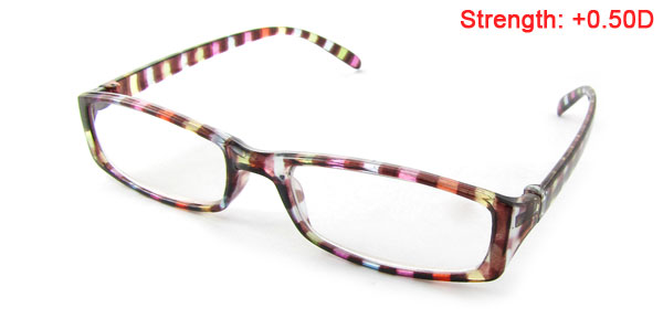 Color Striped Frame Reading Eyewear Presbyopic Glasses +0.50