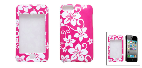 Pink Hard Plastic Flower Case Cover for iPod Touch 2G 3G