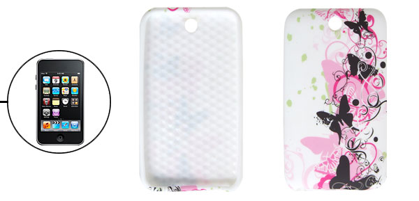 White Butterfly Style Soft Plastic Case for iPod Touch 3