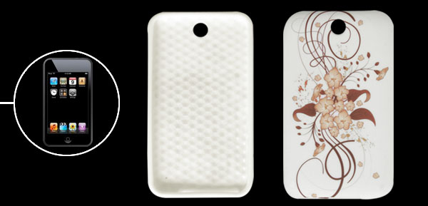 Flower Design White Soft Plastic Case for iPod Touch 3
