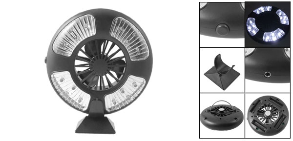 Multifunction Magnetic 16 LEDs Camping Tent Lamp Light with Fan