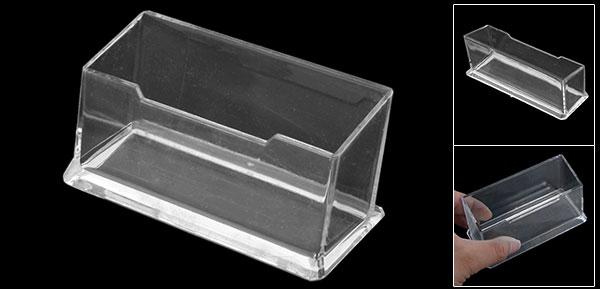 Clear Hard Plastic Office Desk Name Card Holder Case