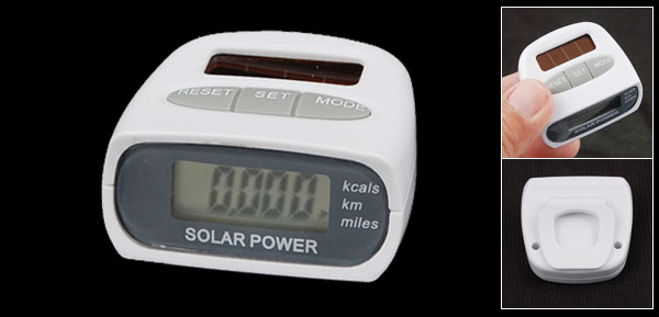 Solar LCD Run Step Pedometer Clip On Distance Counter