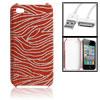 usb data cable + red silver tone zebra p...