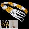 White Yellow Nylon Carry Net Bag for Ball Soccer Basketball