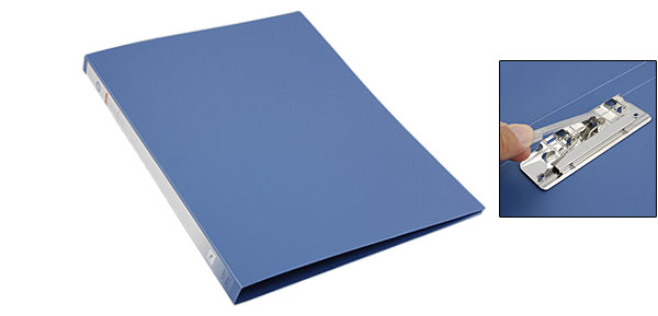 Document File Plastic Steel Blue Folder Organizer