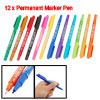 Painting Two Tips 12 PCS Colors Permanent Marker Pen
