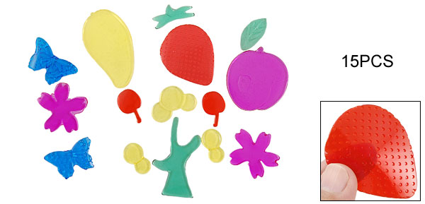 Gel Fruit Tree Strawberry Design Sticker Decor Window Clings