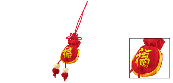 Chinese Sachet Style Pendant Red Cell Phone Strap Charm