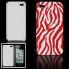red white zebra pattern hard back case s...