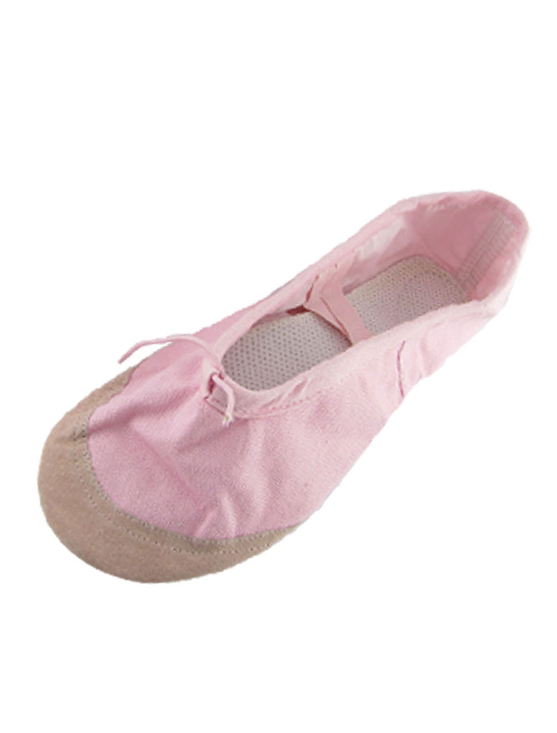Girls-US-Sz-13-5-Elastic-Band-Pink-Ballet-Dancig-Flat-Shoes
