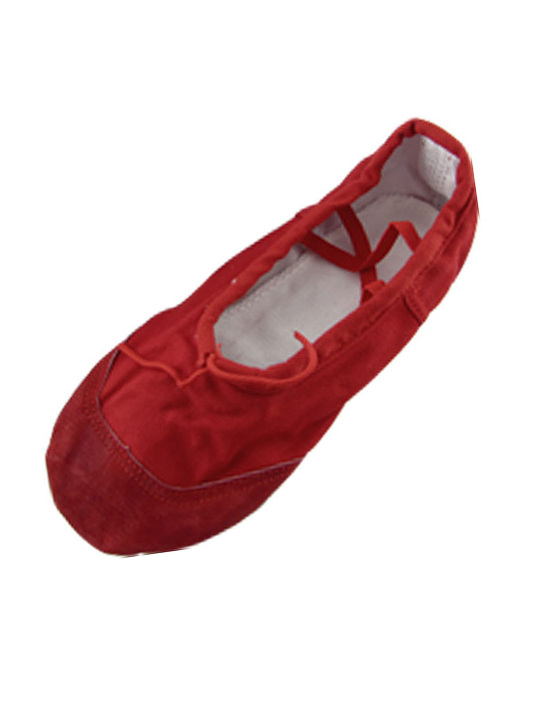 Girls-Red-Soft-Canvas-Elastic-Band-Ballet-Shoes-US-Sz-1