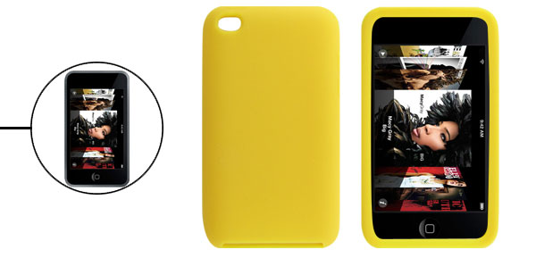 Protective Soft Yellow Protector Skin for iPod Touch 4G