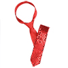 Ladies Casual Style Neck Tie Red Sequin Accent Necktie